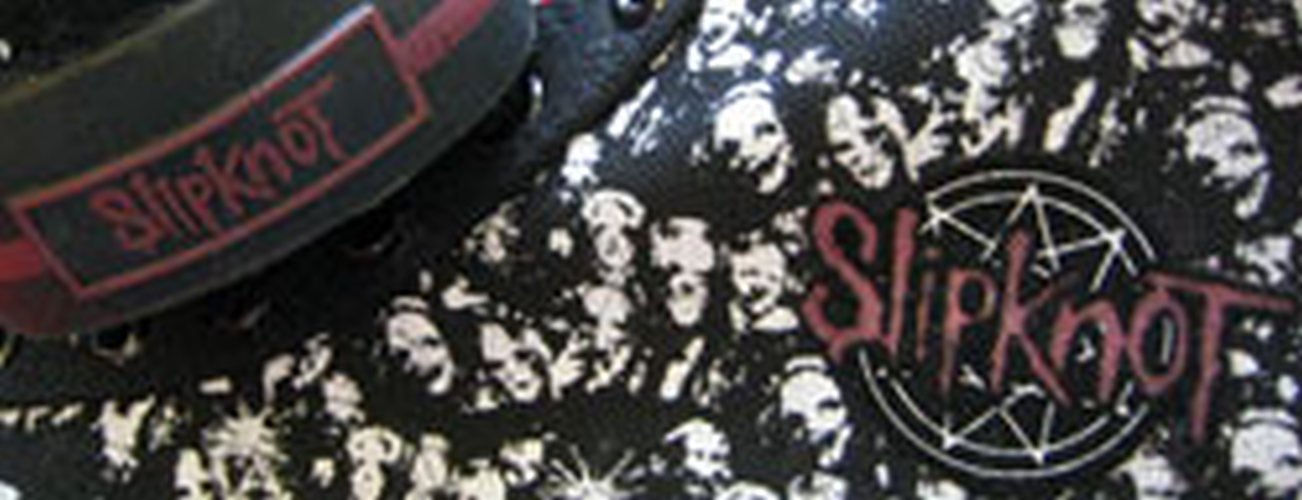 Slipknot Black Amp White Masks High Top Shoes Clothing