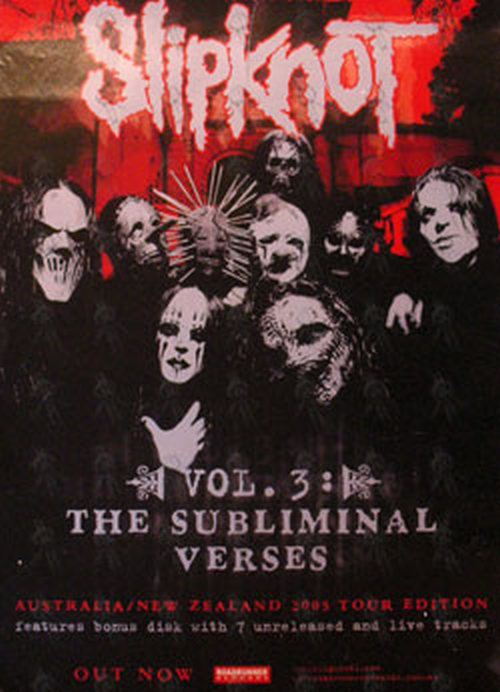 Slipknot Vol 3 The Subliminal Verses Australian Nz