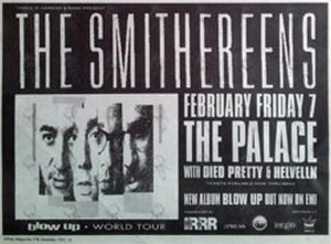 SMITHEREENS-- THE - 'Blow Up' 7 Feb 1992 Australian Tour Gig Advertisement - 1