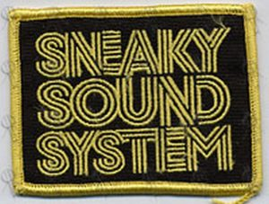 SNEAKY SOUND SYSTEM - Black & Gold Sew-On Patch - 1