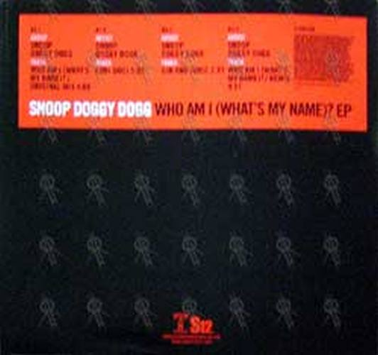 snoop doggy dogg who am i what s my name ep 12 inch lp