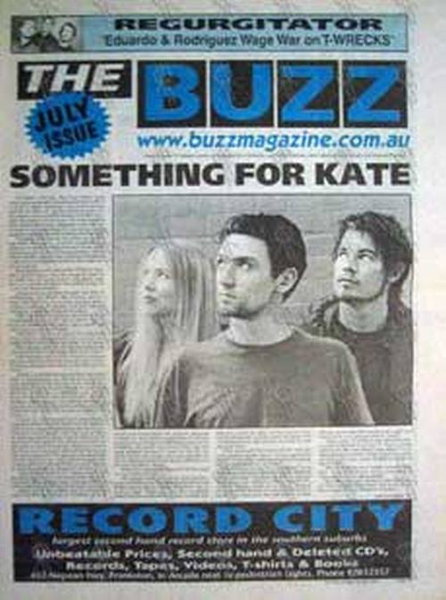 SOMETHING FOR KATE - 'The Buzz' - Volume 8 Number 10 July 2001 - Something For Kate On The - 1