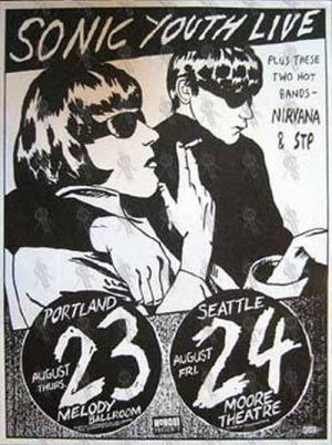 SONIC YOUTH - 'Live W/ Nirvana & STP' Poster - 1