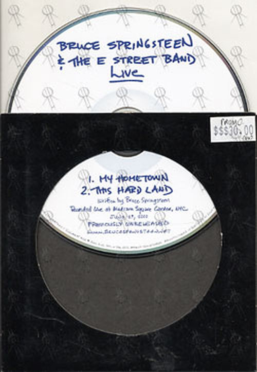 SPRINGSTEEN-- BRUCE - Live - My Hometown / This Hard Land - 1