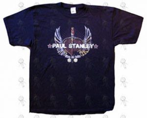 STANLEY-- PAUL - Black 'Live To Win' 'Winged Heart' Design T-Shirt - 1