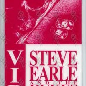 STEVE EARLE & THE DUKES - 1990-1991 World Tour V.I.P. Laminate - 1