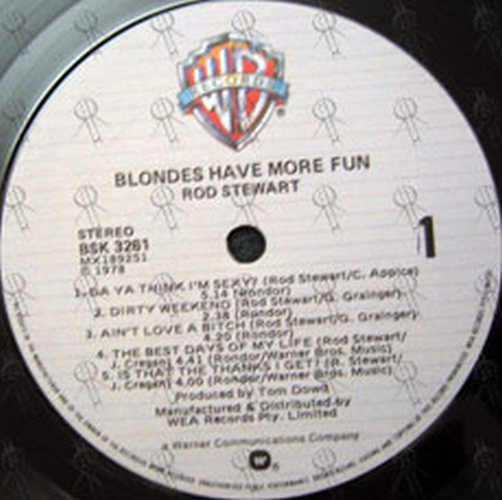 STEWART-- ROD - Blondes Have More Fun - 4