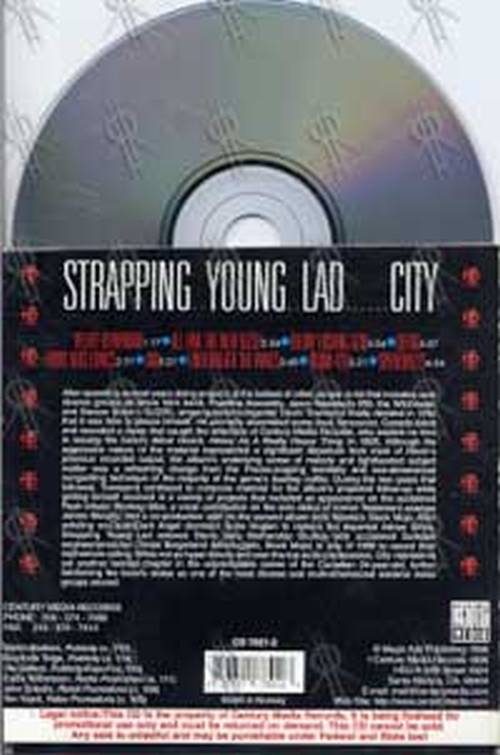 Strapping Young Lad City Cd Single Ep Rare Records