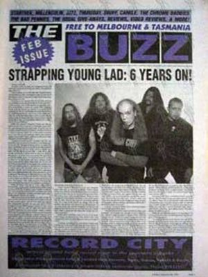 STRAPPING YOUNG LAD - 'The Buzz' - Feb 2003 - Strapping Young Lad On The Cover - 1