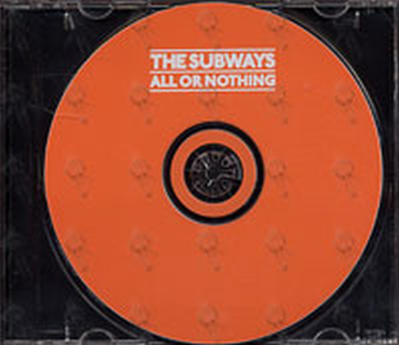 Subways The All Or Nothing Album Cd Rare Records