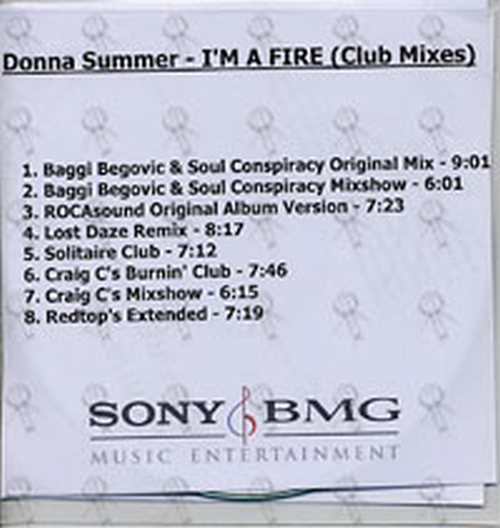 SUMMER, DONNA - I'm A Fire (Club Mixes) (CD) | Rare Records