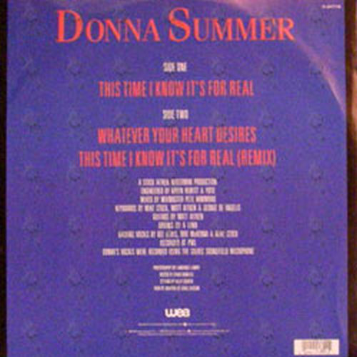 SUMMER-- DONNA - This Time I Know It's For Real - 2