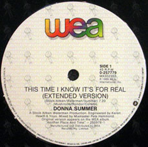 SUMMER-- DONNA - This Time I Know It's For Real - 3