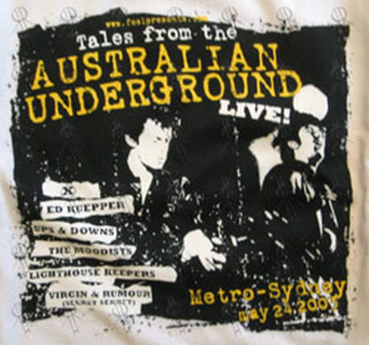 TALES FROM THE AUSTRALIAN UNDERGROUND - White 'Tales From The Australian Underground Live!' 2003 Tour T-Shirt - 2