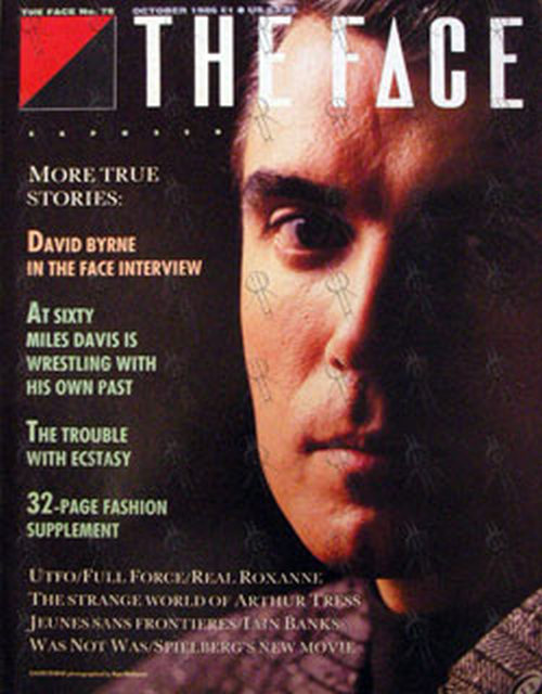 TALKING HEADS - 'The Face' - October 1986 - David Byrne On Front Cover - 1