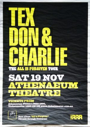 TEX-- DON AND CHARLIE - Athenaeum Theatre