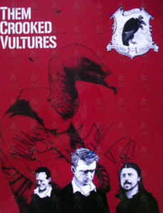 THEM CROOKED VULTURES - Colour 'Making The Possible Totally Impossible' Promo Photograph - 1
