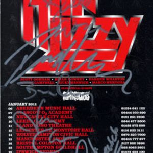 THIN LIZZY - January 2011 Fully Signed UK Tour Flyer - 1