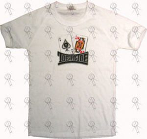 TOE TO TOE - White 'Playing Cards' Image Girls' Bonds T-Shirt - 1