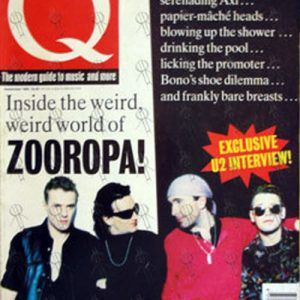 U2 - 'Q' - September 1993 - U2 On Cover - 1