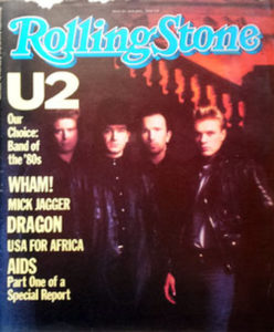 U2 - 'Rolling Stone' - April 1985 - U2 On Cover - 1