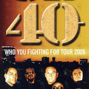 UB40 - 'Who You Fighting For Tour 2006' Postcard Flyer - 1