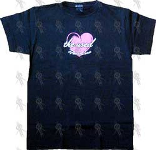 USED-- THE - Black 'HeartCore' Girls T-Shirt - 1