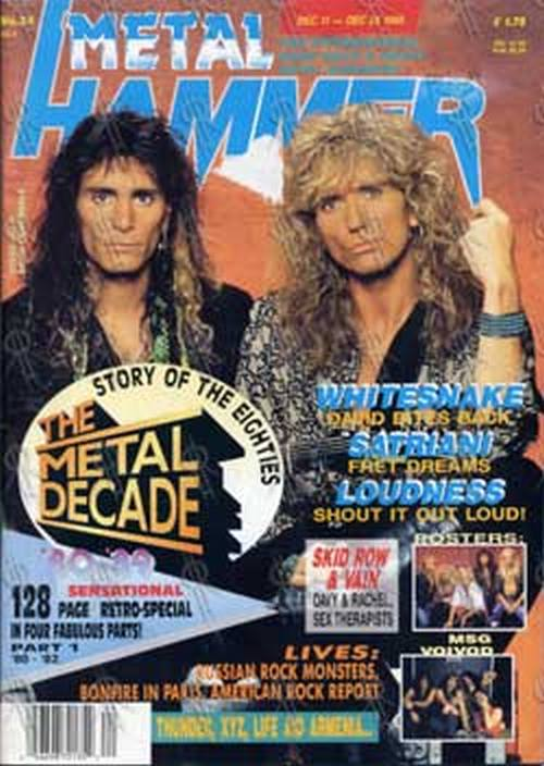VAI-- STEVE - 'Metal Hammer' - Dec 11th 1989 - Steve Vai & David Coverdale On Cover - 1