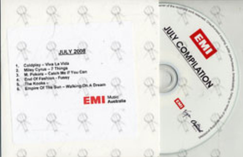 VARIOUS ARTISTS - EMI July 2008 Compilation - 1
