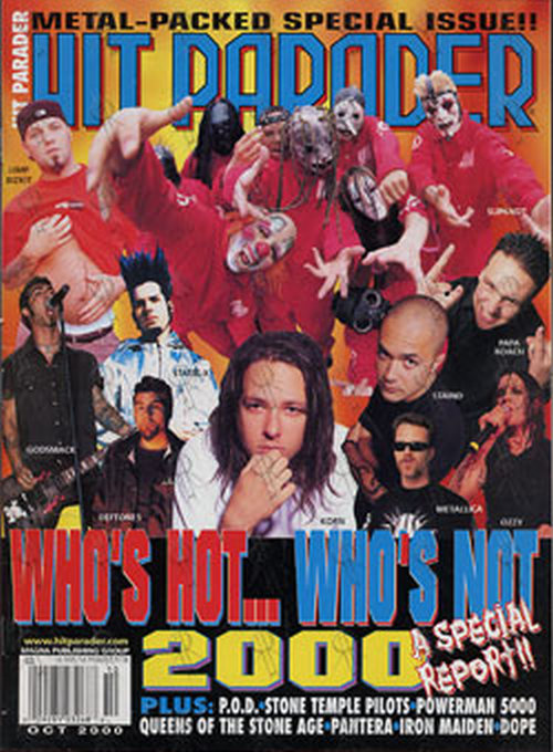 VARIOUS ARTISTS - 'Hit Parader' - October 2000 - '2000: Who's Hot