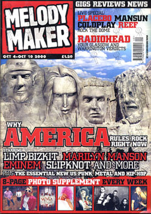 VARIOUS ARTISTS - 'Melody Maker' - 4th October 2000 - American Rock Special - 1
