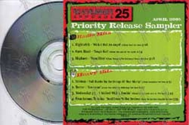 VARIOUS ARTISTS - Roadrunner Records Priority Release Sampler April 2005 - 2
