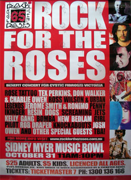 VARIOUS ARTISTS - Rock For The Roses Festival Poster - 1