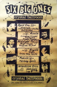 VARIOUS ARTISTS - Six Big Ones - Crystal Ballroom Gig Schedule Poster - 1