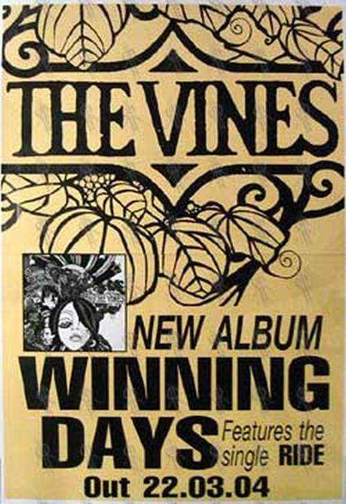 Vines The Winning Days Album Poster Billboard Sizes