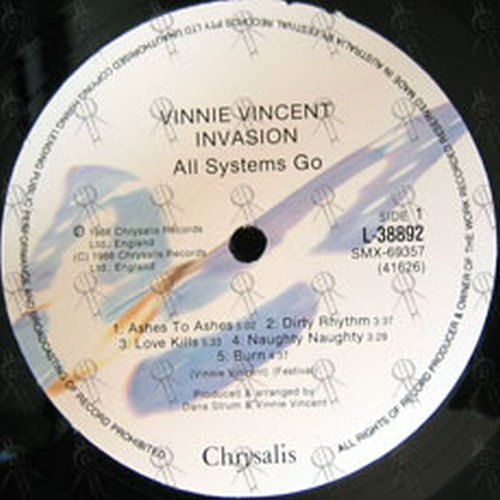 Vinnie Vincent Invasion All Systems Go 12 Inch Lp