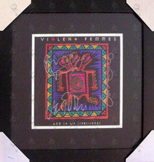 VIOLENT FEMMES - Custom Framed 'Add It Up' Signed Print - 1