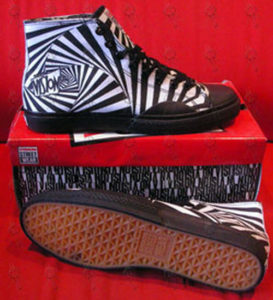 VISION STREET WEAR - Black & White 'Gator Hypno' High-Top Shoes - 1