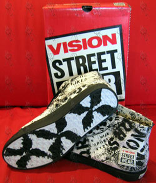 VISION STREET WEAR - White 'Alphabarb' Design High-Top Shoes - 1