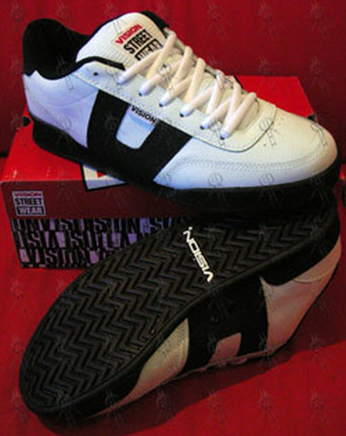 VISION STREET WEAR - White & Black 'Geezer' Skate Shoes - 1