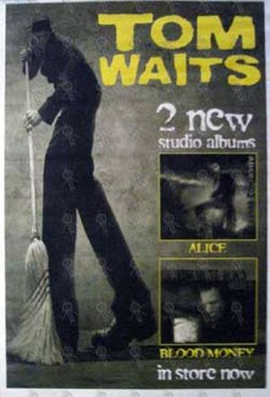 WAITS-- TOM - 'Alice'/'Blood Money' Album Poster - 1