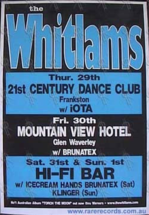 WHITLAMS-- THE - August 2002 Victoria Tour Poster - 1
