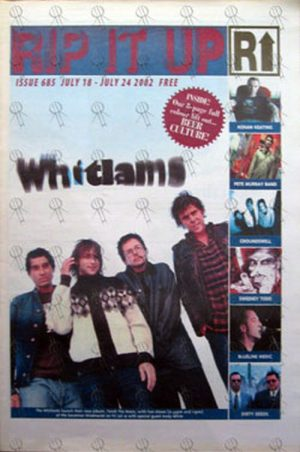 WHITLAMS-- THE - 'Rip It Up' - July 18th 2002 - The Whitlams On Cover - 1