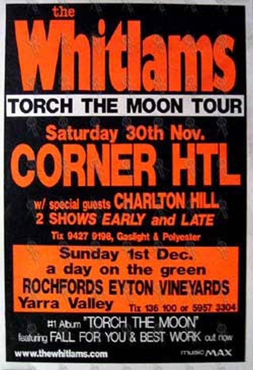 WHITLAMS-- THE - 'Torch The Moon Tour' Gig Poster (Orange) - 1