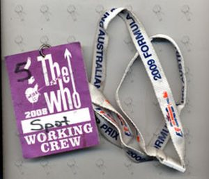 WHO-- THE - 2008 Working Crew Cloth Sticker - 1
