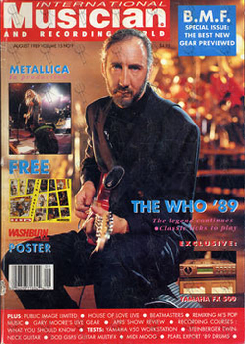 WHO-- THE - 'International Musician' - August 1989 - Pete Townshend On Cover - 1