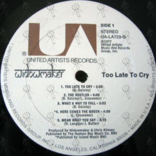 WIDOWMAKER - Too Late To Cry - 3