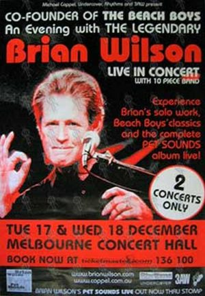 WILSON-- BRIAN - 'Live In Concert' Poster - 1