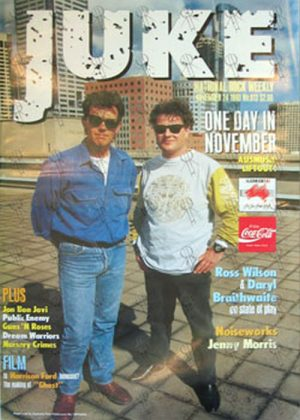 WILSON-- ROSS & BRAITHWAITE-- DARYL - 'Juke' - 24th November 1990 - Issue #813 - Ross Wilson & Daryl Braithwaite On Cover - 1