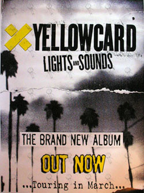 YELLOWCARD - 'Lights And Sounds' Album Promo Poster - 1